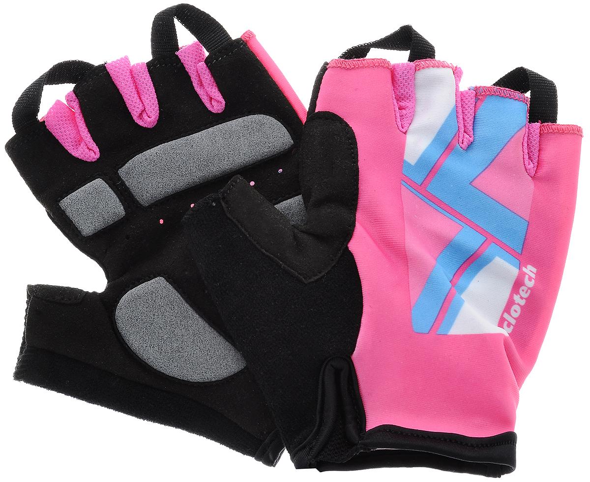 Велоперчатки Cyclotech Canna Bike, цвет: черный, розовый. Размер SCNN-BK-S