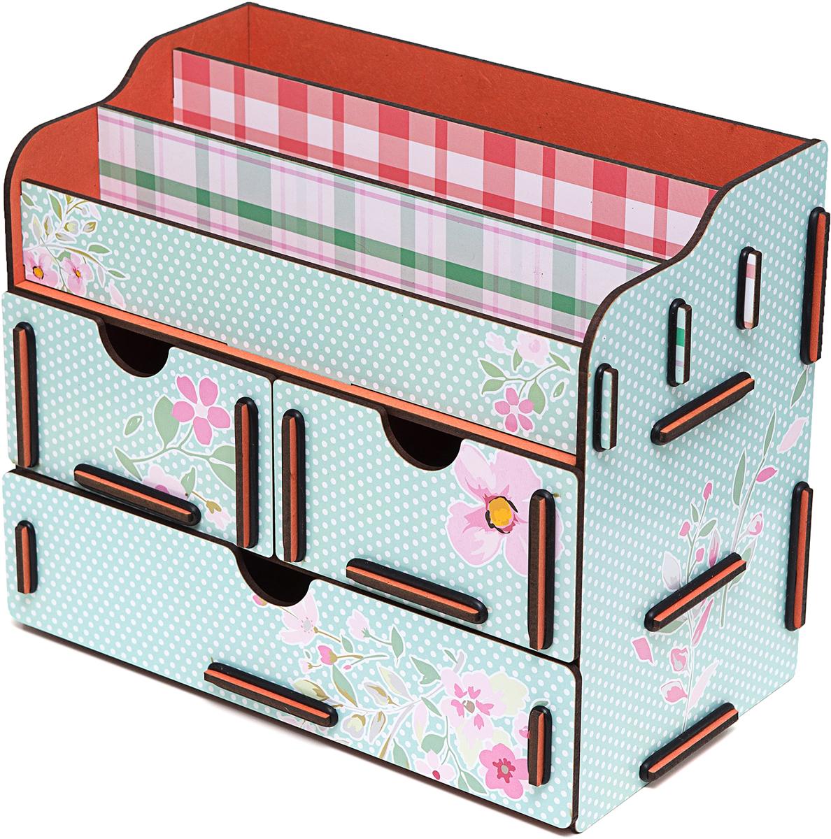 Органайзер Homsu Ранние цветы, для косметики и украшений, 23 х 14,5 х 19 смHOM-741Органайзер для косметики и украшений благодаря двум маленьким ящикам размером 11Х14, 5см и одному большому ящику размером 22Х14, 5см позволяет разместить все самое необходимое для женщины и всегда иметь это под рукой. Этот оригинальный сундучок имеет также 3 полочки сверху для хранения косметики, парфюмерии и аксессуаров, его можно поставить на столе, он станет отличным дополнением интерьера. 230х145х190
