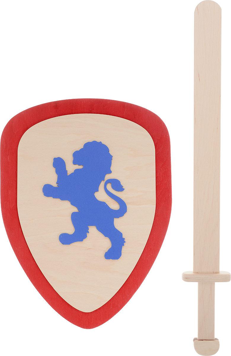 Master Wood Щит и меч цвет красный синий