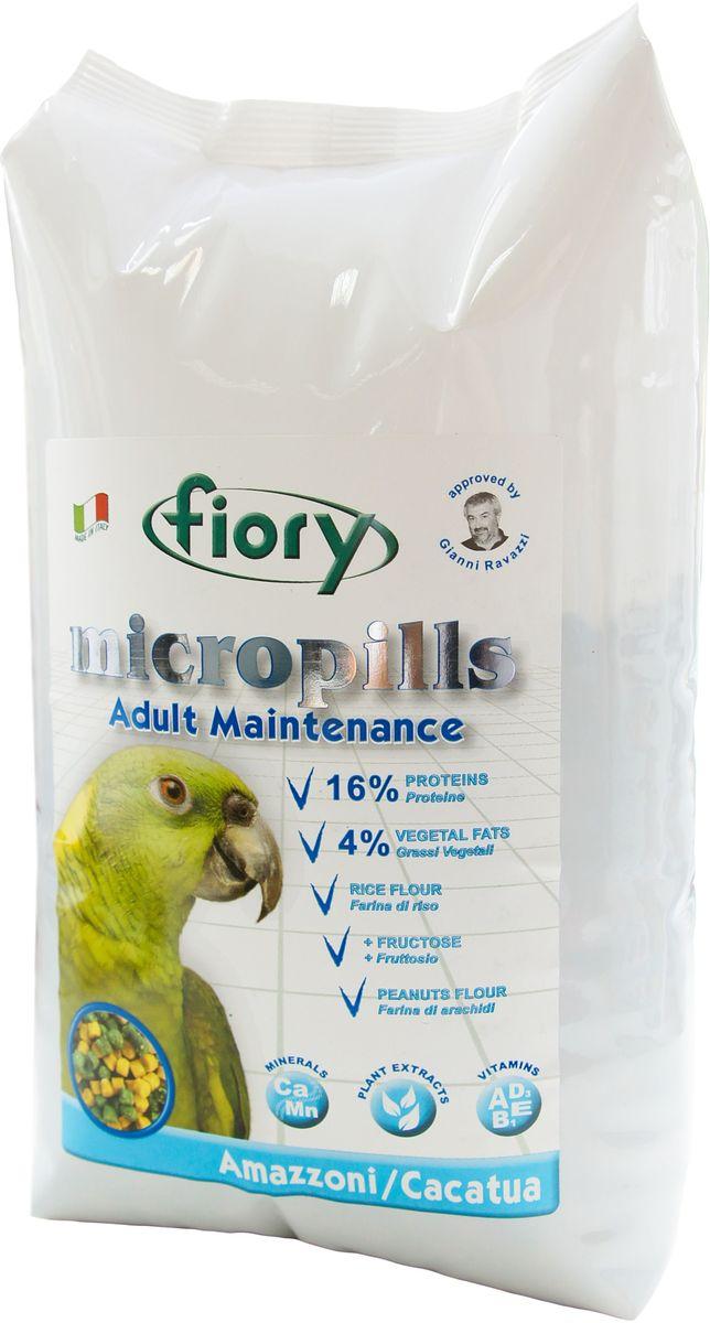 Корм сухой Fiory Micropills Amazzoni/Cacatua, для амазонских попугаев и какаду, 1,4 кг0370Fiory Microppils Amazzoni/Cacatua полноценный корм, созданный на основе пищевых потребностей взрослых амазонских попугаев и попугаев какаду. Продукт содержит необходимое для данного вида попугаев количество белка (16%) и жира (4%). В качестве важного природного источника углеводов в данном корме используется фруктоза. Живой глютен пшеницы хорошо переваривается организмом птицы и служит отличным источником белка. Уникальная технология экструзии без применения высоких температур позволяет сохранить питательные вещества исходных компонентов. Бисквитная, рисовая, кукурузная и арахисовая мука придают корму высокую вкусовую привлекательность. Комплекс нутрицевтиков (дрожжи, инулин Цикория, фруктоолигосахариды, бета-глюканы, Омега-3 и Омега-6 жирные кислоты, титрованные растительные экстракты и др.) способствует правильному пищеварению, укрепляет иммунную систему, повышает усвоение минеральных веществ, улучшает работу сердца и сосудов, играет важную роль в развитии...