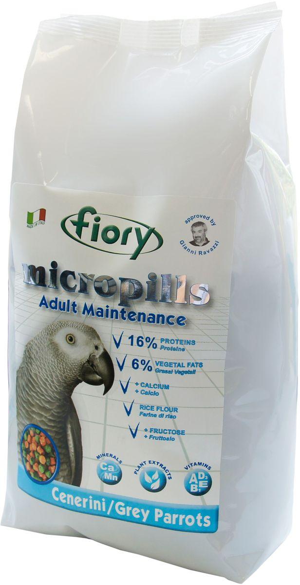 Корм сухой Fiory Micropills Grey Parrots, для серых африканских попугаев, 1,4 кг 38 parrots