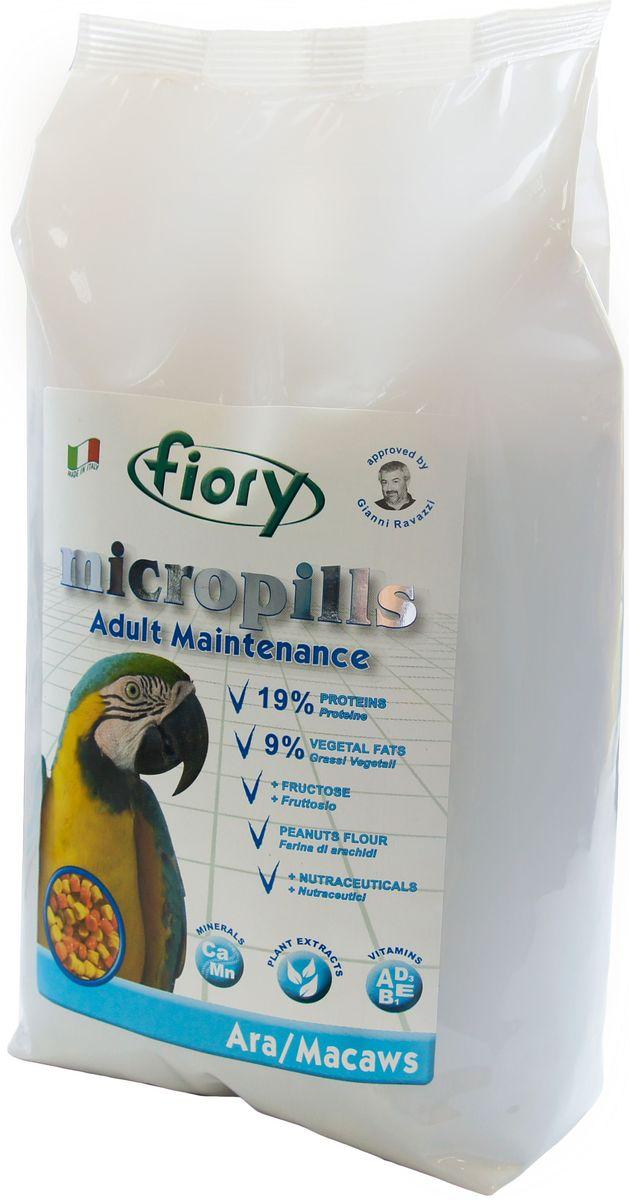 Корм сухой Fiory Micropills Ara/Macaws, для попугаев Ара, 2,5 кг0432Fiory Microppils Ara полноценный корм, созданный на основе пищевых потребностей взрослых попугаев Ара. Продукт содержит необходимое для данного вида попугаев повышенное количество белка (19%) и жира (9%). В качестве важного природного источника углеводов в данном корме используется фруктоза. Живой глютен пшеницы хорошо переваривается организмом птицы и служит отличным источником белка. Уникальная технология экструзии без применения высоких температур позволяет сохранить питательные вещества исходных компонентов. Бисквитная, рисовая и арахисовая мука придают корму высокую вкусовую привлекательность. Комплекс нутрицевтиков (дрожжи, инулин Цикория, фруктоолигосахариды, бета-глюканы, Омега-3 и Омега-6 жирные кислоты, титрованные растительные экстракты и др.) способствует правильному пищеварению, укрепляет иммунную систему, повышает усвоение минеральных веществ, улучшает работу сердца и сосудов, играет важную роль в развитии головного мозга и зрения, способствует...