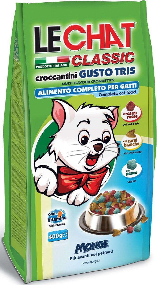 Консервы Monge Lechat Cat Gusto Tris, для кошек, трио вкусов (говядина, курица, рыба), 400 г70000840Анализ компонентов: белок 30%, сырые масла и жиры 12%, сырая зола 9%, сырая клетчатка 2,5%. Пищевые добавки: витамин А (как ретинол ацетат) 15000 МЕ, витамин D3 (как кальциферол) 1100МЕ, витамин Е (альфа-токоферол ацетат) 85 мг/кг, сульфат железа моногидрат 270 мг/кг (железа 80 мг/кг), оксид цинка 100 мг/кг (цинк 75 мг/кг), сульфат марганца моногидрат 45 мг/кг (марганец 15 мг/кг), сульфат меди пентагидрат 25 мг/кг (меди 6 мг/кг), йодат кальция безводный 1,30 мг/кг (йод 0,8 мг/кг), селенит натрия 0,23 мг/кг (селен 0,10 мг/кг). Аминокислоты: таурин 0,14%, Технологические добавки: антиоксиданты.Злаки, мясо и мясные субпродукты (говядины мин. 8%, курицы мин. 5%), рыба и рыбные субпродукты (рыбы мин. 5%), масла и жиры, овощи, минералы, дрожжи (маннаноолигосахариды (МОС) 400 мг/кг), фруктоолигосахариды (ФОС) 400 мг/кг, юкка Шидигера 1000 мг/кг.Корм должен быть доступен кошке без ограничения количества. Она будет съедать ровно столько, сколько необходимо её организму для...