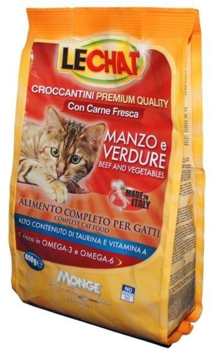 Консервы Monge Lechat Cat, для кошек, с говядиной и овощами, 400 г70061803Анализ компонентов: сырой белок 30%, сырые масла и жиры 12%, сырая зола 9,5%, сырая клетчатка 2,5%, магний 0,12%, кальций 2,5%, фосфор 1,5%, омега-6 2,06%, омега-3 0,57%. Пищевые добавки: витамин А (как ретинол ацетат) 22000 МЕ, витамин D3 (как кальциферол) 1600МЕ, витамин Е (альфа-токоферол ацетат) 120 мг/кг, таурин 1343 мг/кг, холина хлорид 2200 мг/кг, DL-метеонин 6500 мг/кг, сульфат марганца моногидрат 60 мг/кг (марганец 20 мг/кг), оксид цинка 125 мг/кг (цинк 90 мг/кг), сульфат меди пентагидрат 30 мг/кг (меди 7,8 мг/кг), сульфат железа моногидрат 215 мг/кг (железа 65 мг/кг), селенит натрия 0,30 мг/кг (селен 0,12 мг/кг), йодат кальция безводный 1,60 мг/кг (йод 1 мг/кг). Технологические добавки: антиоксиданты. Энергетическая ценность: 374 ккал/100г.Злаки, мясо и мясные субпродукты (свежаяговядина мин. 5%), масла и жиры (масло лосося 0,5%), овощи (нерастворимые волокнагорошка, дегидрированныйгорошек), рыба и рыбные субпродукты, минералы, дрожжи (маннаноолигосахариды (МОС)...