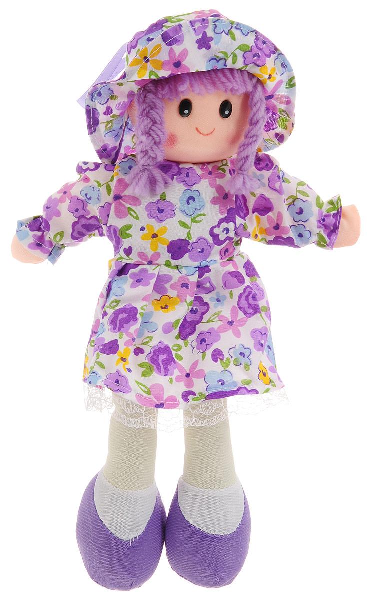 Sima-land Мягкая кукла в платье и шляпке цвет фиолетовый