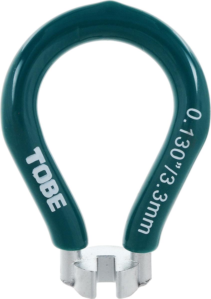 Ключ спицевой To Be, нипель 3,3 мм. 20632063Для колес и шин B556050 Одноразмерный спицевый ключ из никелированный закаленной стали с виниловым покрытием Особенности: Ниппель 3,3 мм; зеленый (европейский)