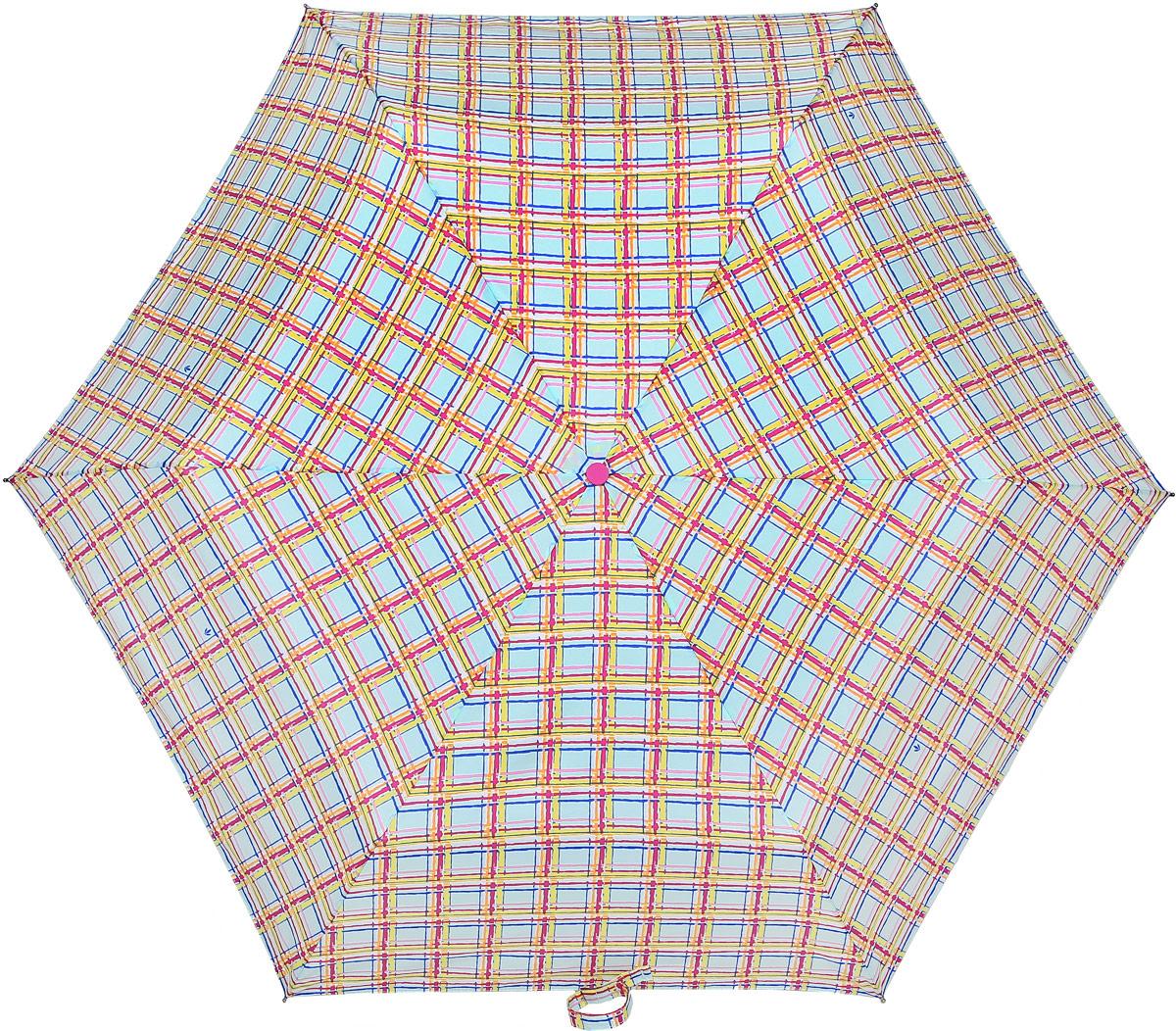 Зонт женский Fulton, механический, 3 сложения, цвет: мультиколор. L553-3371L553-3371 ModernCheckСтильный механический зонт Fulton имеет 3 сложения, даже в ненастную погоду позволит вам оставаться стильной. Легкий, но в тоже время прочный алюминиевый каркас состоит из шести спиц с элементами из фибергласса. Купол зонта выполнен из прочного полиэстера с водоотталкивающей пропиткой. Рукоятка закругленной формы, разработанная с учетом требований эргономики, выполнена из каучука. Зонт имеет механический способ сложения: и купол, и стержень открываются и закрываются вручную до характерного щелчка.