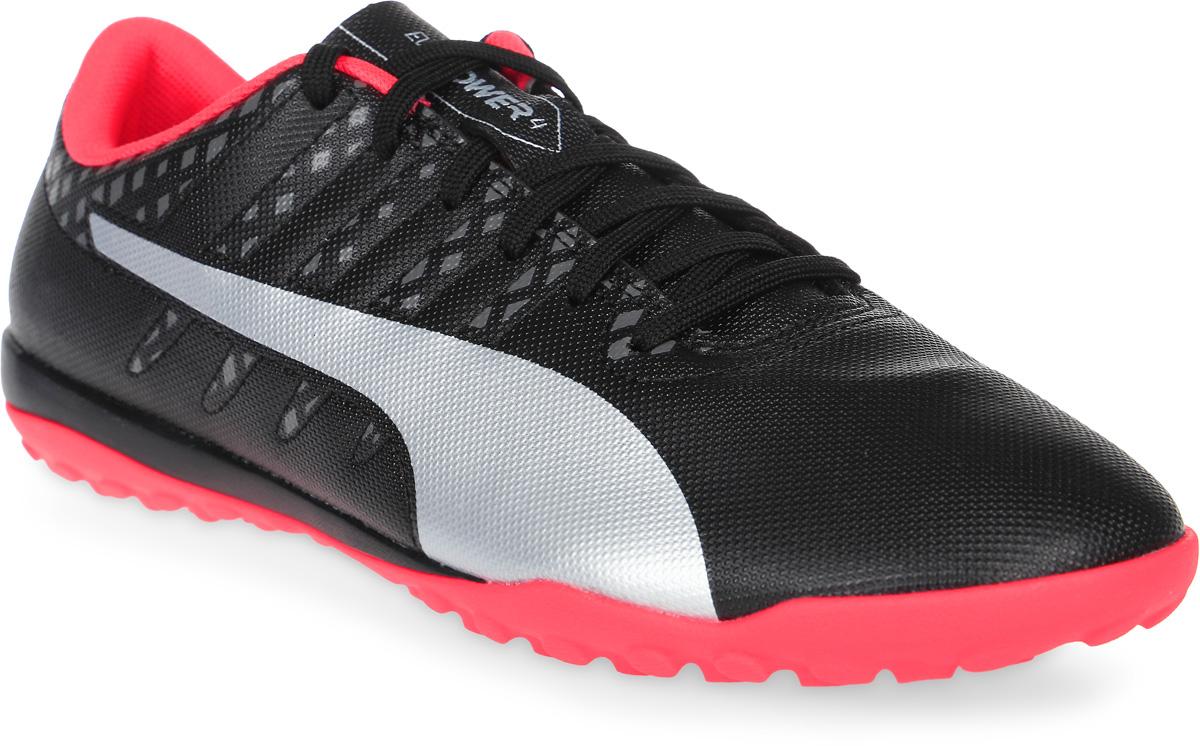 Бутсы муж Puma Evopower Vigor 4 Tt, цвет: черный, розовый. 10396502. Размер 7,5 (40)