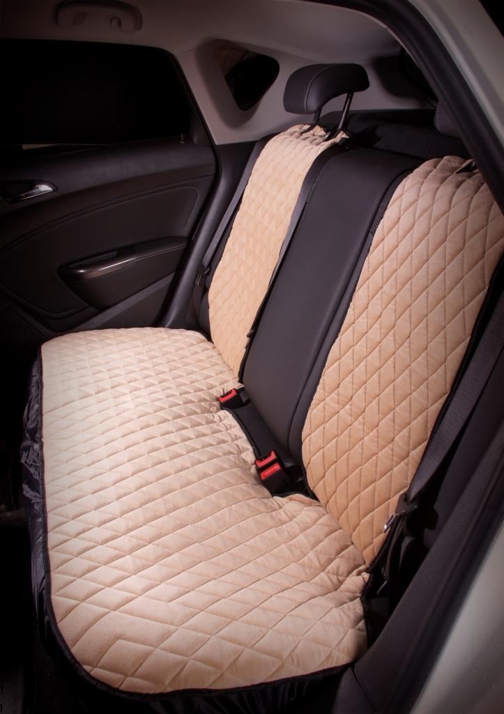 Накидка на сиденье Airline, задняя, цвет: бежевый, 3 предметаASC-B-03Накидки сшиты из износоустойчивой ворсовой мебельной ткани и защищают штатную обивку от истирания и выцветания. Идеально подходят к кожаному салону, обеспечивая комфортную температуру при контакте с сиденьем в холодную и жаркую погоду, а стеганый дизайн придает салону домашний комфорт и уют. Благодаря своей форме накидки позволяют без затруднений надевать их на кресла любого типа, не прибегая к демонтажу подголовников и подлокотников, а так же не препятствует раскрытию подушек безопасности. Все модели, имеют универсальную систему крепления позволяющую применять изделие на 99% существующего автопарка России. Размер - Универсальный Цвет - Бежевый Состав - полиэстер, хлопок, вспененный полиуретан Комплект состоит из накидок на заднее сиденье из трех частей. Преимущества: Защищает обивку автомобильных сидений от истирания; Износостойкая ворсовая ткань; Удобные застежки на направляющие подголовника; Универсальное крепление и размер