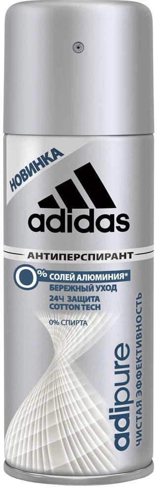Adidas Дезодорант-антиперспирант спрей Adipure 24 ч, мужской, 150 мл34013351251Первый антиперспирант без солей и алюминия. Для чистой эффективности и ухода за кожей. Формула: 0% мыла; 0% красителей; Ph сбалансирован. Содержит комплекс cotton-tech с увлажняющими компонентами и экстрактом хлопка. Абсорбирующая технология. 0% солей алюминия. Чистая эффективность. Прозрачная текстура.