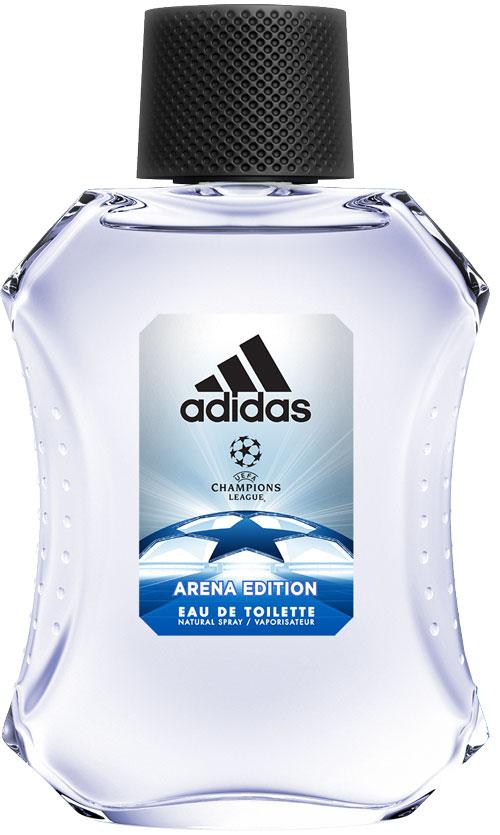 Adidas Туалетная парфюмированная вода UEFA III мужская, 100 мл340005260056Туалетная вода adidas UEFA III создана для настоящих чемпионов! Аромат раскрывается нотами бергамота, яблока и розмарина. Они придают композиции взрывную свежесть. Сердце строится вокруг звучания герани и жасмина с ненавязчивым аккордом кориандра. Ноты бобов тонка и пачули создают мощную теплую базу аромата, приправленную мускусом, который продлевает звучание парфюмерной композиции.