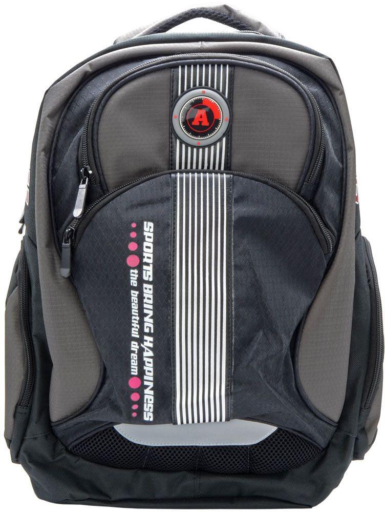 Action! Рюкзак городской SportAB11128Рюкзак городской, для отдыха и спорта с логотипом ACTION. Выполнен из комбинации различных тканей. Одно основное отделение на молнии. На лицевой стороне 2 кармана на молнии. По бокам-карманы на молнии. Уплотненная рельефная спинка, создающая эффект жесткости для комфортного ношения на спине. Задние регулируемые снизу лямки имеют свтоотражающие полоски безопасности. Уплотненная верхняя ручка. Вместимость 25,5 л.