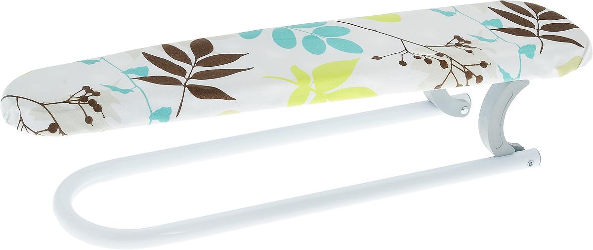 Нарукавник для гладильной доски Gimi Planet, цвет: коричневый,берюзовый, белый, 52 x 12 x 11 см12760620_листочкиНарукавник для гладильной доски Gimi Planet, цвет: коричневый,берюзовый, белый, 52 x 12 x 11 см