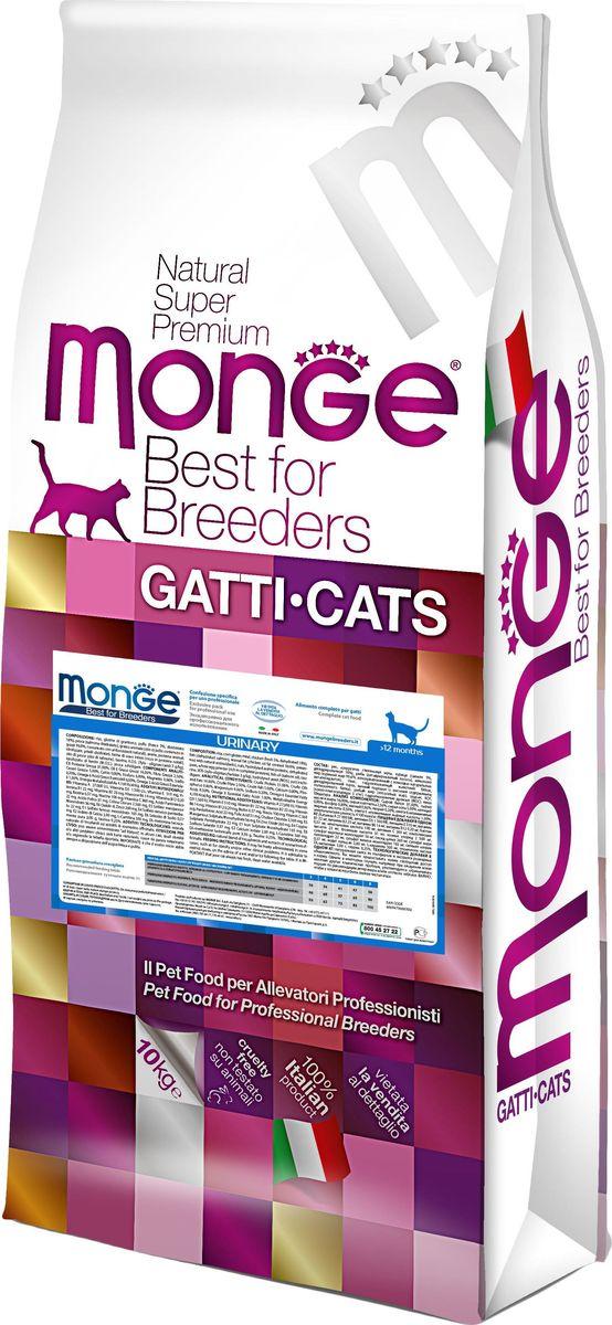 Корм сухой для кошек Monge Cat Urinary, профилактика МКБ, 10 кг70004916Корм для взрослых кошек для профилактики МКБ - 10 кг Полноценный сбалансированный рацион для взрослых кошек для профилактики мочекаменной болезни, помогающий предотварить образование кристаллов и камней в мочевом пузыре. Оптимальный уровень Ph - уменьшает риск возникновения мочекаменной болезни. Сбалансированное содержание магния, кальция и фосфора способствует поддержанию нормального функционирования мочевыводящих путей, а высокое содержание белков животного происхождения обеспечивает слабо-кислый рН мочи, что в комплексе снижает риск развития мочекаменной болезни. Содержание X. O. S. помогает сохранить естественный баланс кишечной микрофлоры, способствует усвоению пищи и повышает иммунитет. Витамин С является мощным антиоксидантом, который способствует поддержанию имунной системы и естественной защиты организма. Гарантированный анализ: сырой белок 31%, сырые масла и жиры 16%, сырая клетчатка 2,5%, сырая зола 5%, кальций 0,8%, фосфор 0,8%, магний 0,06%,...
