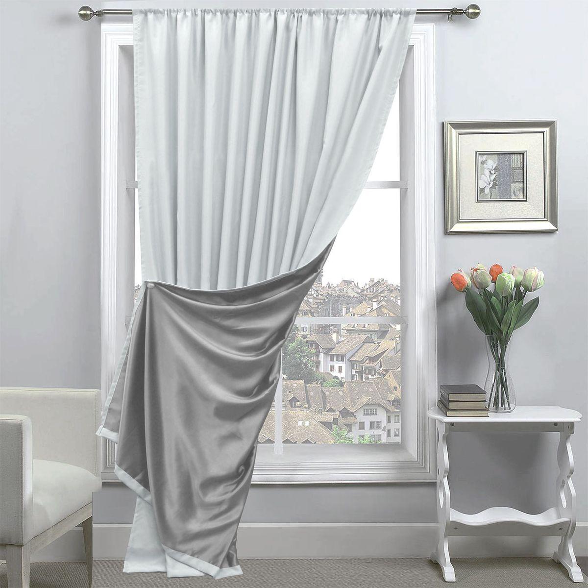 Портьера Amore Mio, 200 х 270 см, 1 шт., цвет: серый. 8517285172
