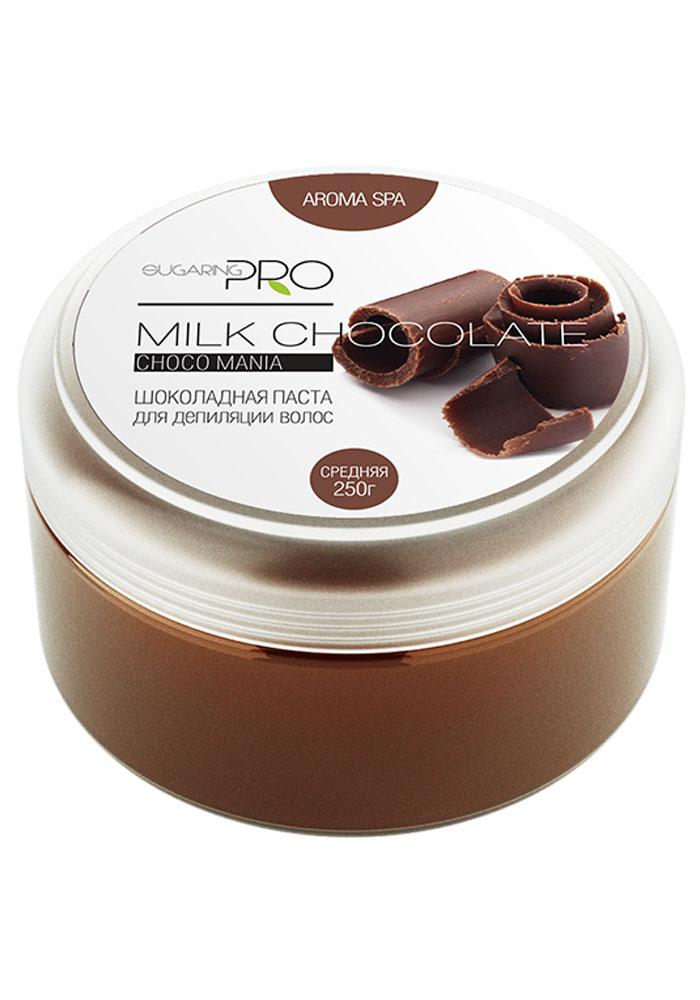 Sugaring Pro Сахарная паста Молочный шоколад средняя плотность, 250 гУТ000008525Универсальная паста средней плотности подходит для удаления всех типов волос на любом участке тела. Нежно удалит волосы длинной от 3 мм, не травмируя кожу. После процедуры кожа становится мягкой и абсолютно гладкой. Подходит для чувствительной кожи со склонностью к аллергическим реакциям