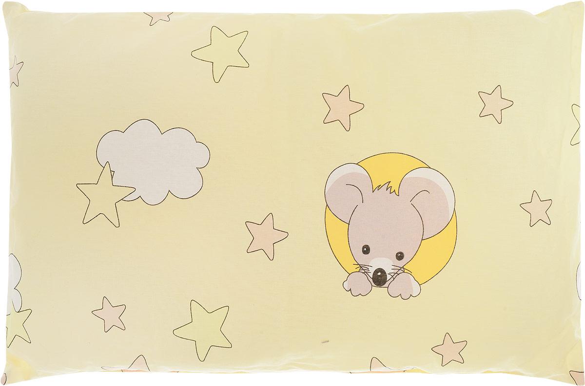 Сонный гномик Подушка детская Мыши цвет желтый 60 х 40 см 555Б_желтый