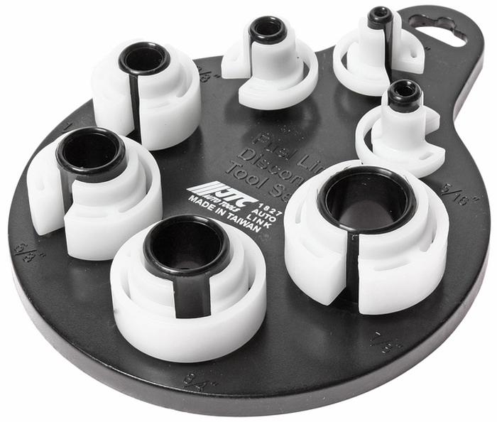 JTC Набор для разъединения трубопроводов, 7 шт. JTC-1827JTC-1827Используется для разъединения и соединения линий различных систем автомобиля. Размеры 1/4;, 5/16;, 3/8;, 1/2;, 5/8;, 3/4;, 7/8;. Количество в оптовой упаковке: 12 шт. и 72 шт. Габаритные размеры: 225/145/35 мм. (Д/Ш/В) Вес: 124 гр.