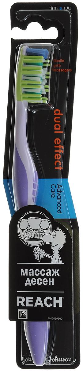 Reach Зубная щетка Dualeffect, жесткая цвет: сиреневый3058835_сиреневыйReach Зубная щетка Dualeffect, жесткая цвет: сиреневый