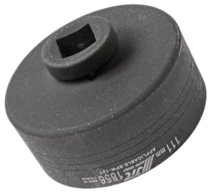 """JTC Головка ступичная овальная 1 х 111 мм (BPW-12T). JTC-1856JTC-1856Предназначена для откручивания крышки заднего колеса. Размеры: под ключ 1"""", 111 мм. (овал). Применение: BPW-12T. Габаритные размеры: 160/150/80 мм. (Д/Ш/В) Вес: 2570 гр."""