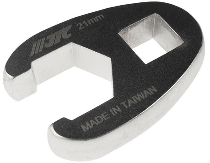 """JTC Ключ разрезной односторонний 1/2, 21 мм. JTC-1925JTC-1925Инструмент изготовлен из хром-молибденовой стали, предназначен для откручивания/закручивания накидных гаек различных гидро- и пневматических систем автомобиля. Односторонний Размер: 1/2"""", 21 мм. Габаритные размеры: -/-/- мм. (Д/Ш/В) Вес: - гр."""