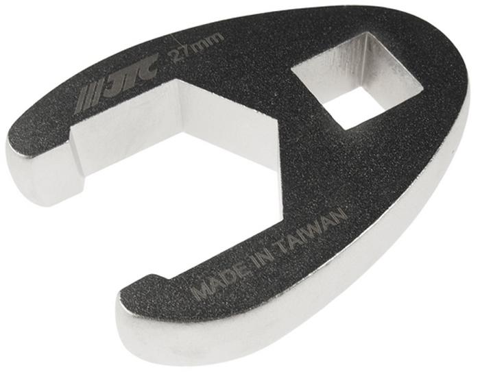 """JTC Ключ разрезной односторонний 1/2, 27 мм. JTC-1931JTC-1931Инструмент изготовлен из хром-молибденовой стали, предназначен для откручивания/закручивания накидных гаек различных гидро- и пневматических систем автомобиля. Односторонний Размер: 1/2"""", 27 мм. Габаритные размеры: -/-/- мм. (Д/Ш/В) Вес: - гр."""