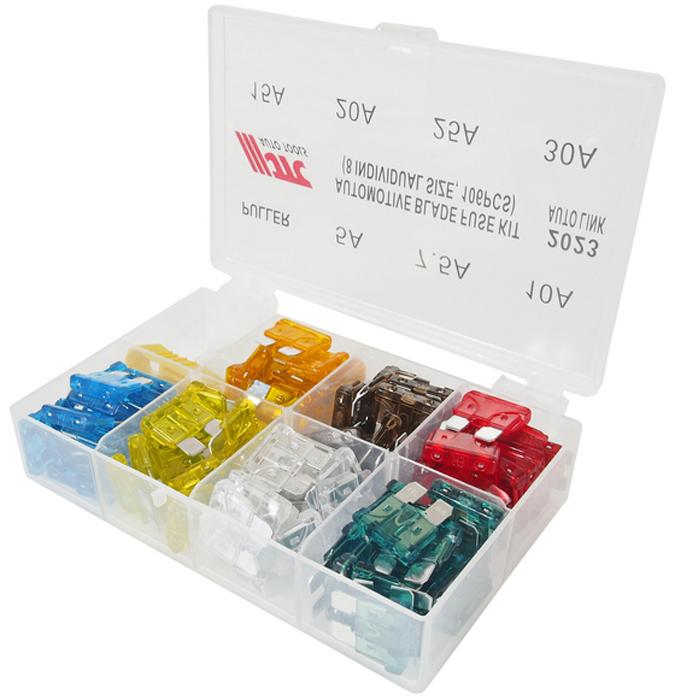 JTC Набор предохранителей плоских 5-30А, 106 шт. JTC-2023JTC-2023В комплекте: Размеры: 5А, 7.5А, 10А, 15А, 20А, 25А, 30А х15 шт. каждого размера. Съемник - 1 шт. Всего: 106 шт. Упаковка: прочный пластиковый бокс с ячейками. Габаритные размеры:135/95/35 мм. (Д/Ш/В) Вес: 150 гр.