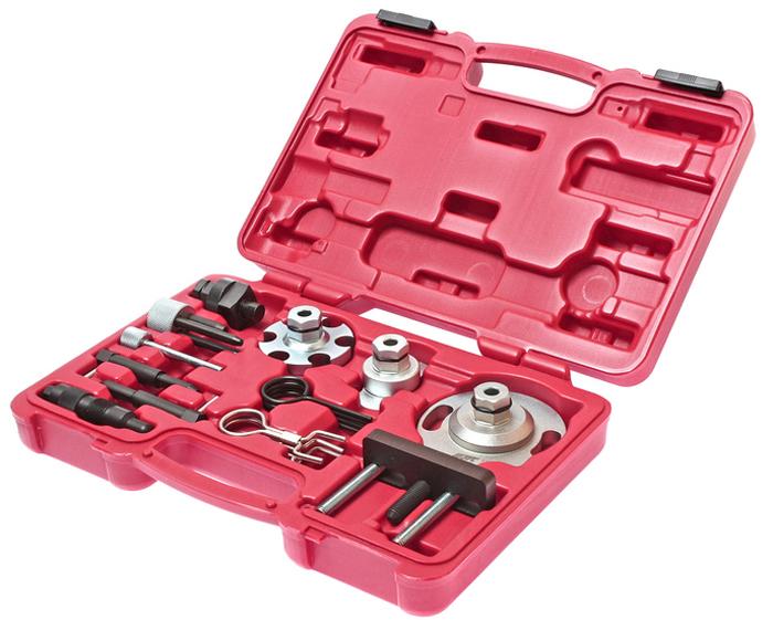 JTC Набор приспособлений для обслуживания дизельных двигателей (Volkswagen, Audi V6, V8). JTC-4172JTC-4172Специальный набор инструментов применяется для фиксации распредвала и установки фаз ГРМ. Применение: VAG 2.7/3.0 TDi V6, а также 4.0/4.2 TDi V8 цепной привод. Ауди (Audi): дизельный двигатель A4, A5, A6, A8, Q5, Q7. Фольксваген (Volkswagen): дизельный двигатель Phaeton, Touareg. Код двигателя V6: ASB, BKN, BKS, BMK, BMZ, BNG, BPP, BSG, BUG, BUN, CAMA, CAMB, CANA, CANB, CANC, CAND, CAPA, CARA, CARB, CASA, CASB, CASC, CATA, CCMA, CCW A, CCW B, CDYA, CDYB, CDYC, CEXA, CGKA и CGKB. Код двигателя V8: ASE, BTR, BVN, CCFA Упаковка прочный переносной кейс. Габаритные размеры: 300/220/60 мм. (Д/Ш/В) Вес: 2115 гр.