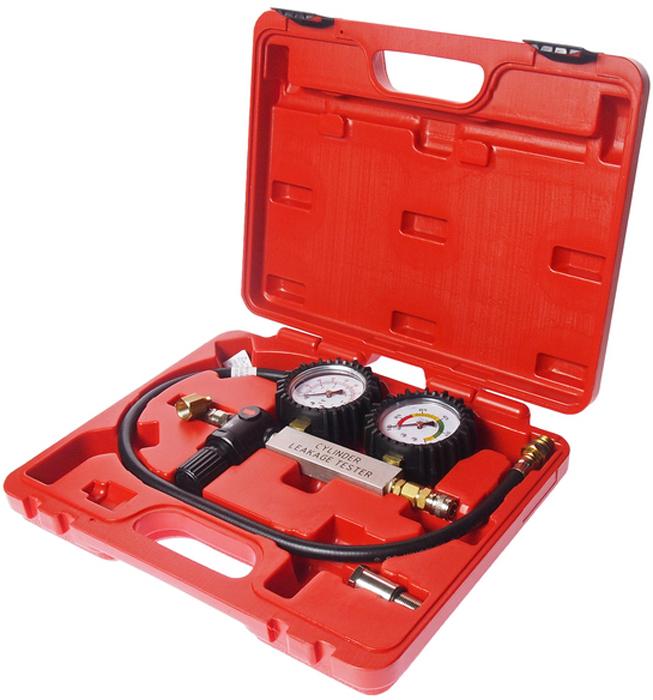 JTC Набор для выявления утечек в цилиндрах. JTC-4208JTC-4208Индикатор давления отображает давление воздуха в цилиндре, обеспечивая точные результаты измерений. Диапазон измерений 0–100 psi (0-700 кПа), цена деления 2 psi (20 кПа). Индикатор утечек в цилиндрах отображает утечки в процентах от величины давления на входе. Различают 3 зоны: высокая, средняя и низкая. Шланг 26 с адаптерами М14 и М18. Упаковка: прочный переносной кейс. Габаритные размеры: 330/275/75 мм. (Д/Ш/В) Вес: 1370 гр.