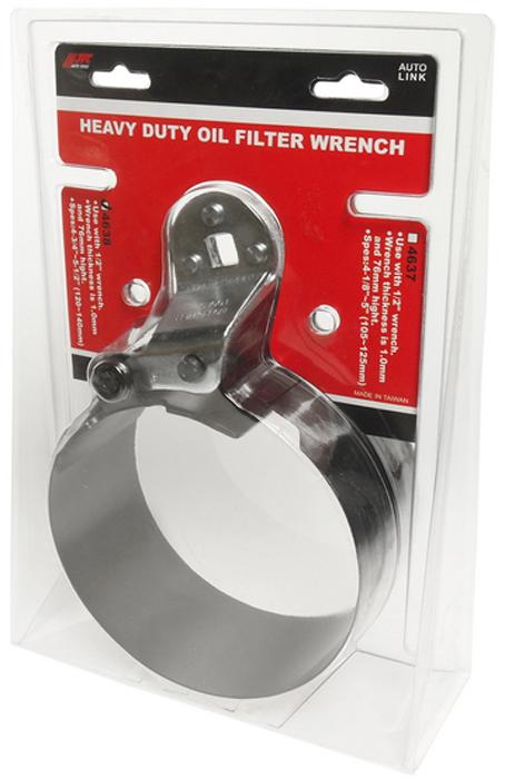 JTC Ключ для снятия масляного фильтра ленточный усиленный, 120-140 мм. JTC-4638JTC-4638Используется с ключом 1/2. Толщина ленты 1,0 мм, высота - 76 мм. Диаметр захвата: 4-3/4 - 5-1/2 (120-140 мм).