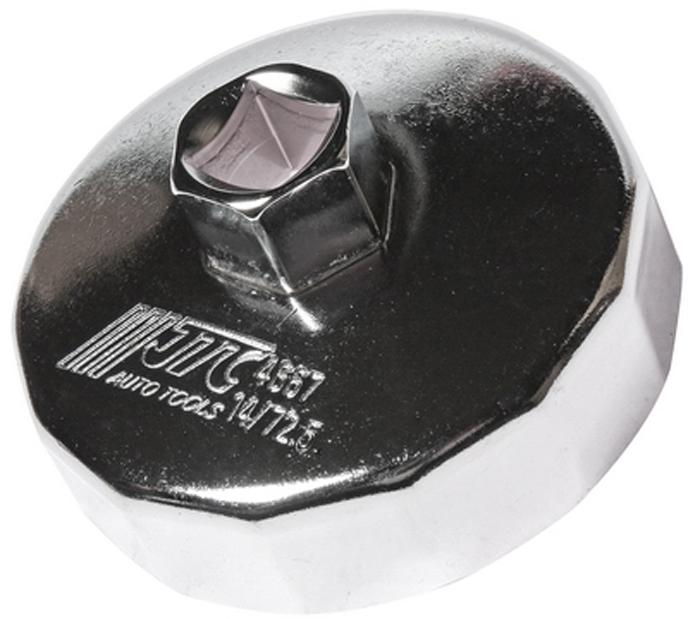 JTC Съемник масляного фильтра. JTC-4667JTC-4667Предназначен для снятия масляного фильтра в ходе проведения диагностических работ. Форма - 14-гранная чашка. Размеры: 14 граней/72.5 мм. Применение: Тойота (Toyota). Инструмент: 1/2, 21 мм. Количество в оптовой упаковке: 10 шт. и 100 шт. Габаритные размеры: 145/110/50 мм. (Д/Ш/В) Вес: 186 гр.