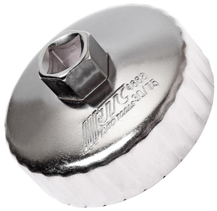 JTC Съемник масляного фильтра. JTC-4668JTC-4668Предназначен для снятия масляного фильтра в ходе проведения диагностических работ. Форма - 30-гранная чашка. Размеры: 30 граней/75 мм. Применение: Форд (Ford), Мазда (Mazda). Инструмент: 1/2, 21 мм. Количество в оптовой упаковке: 10 шт. и 100 шт. Габаритные размеры: 145/110/40 мм. (Д/Ш/В) Вес: 196 гр.