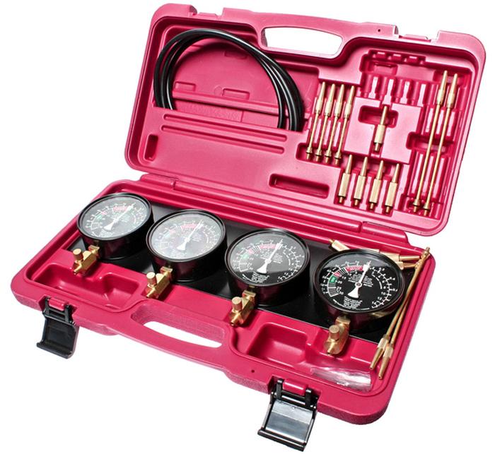 JTC Набор для тестирования топливного насоса карбюратора и его привода, 32 предмета. JTC-4683JTC-4683Набор для тестирования топливного насоса карбюратора и его привода 32 предмета JTC Характеристики Применяется для тестирования топливного насоса карбюратора и его привода для автомобилей с 2-4 карбюраторами. В комплекте: 4 манометра 3-1/2 с неподвижным фиксатором. 4 резиновых шланга 8х5х750 мм. 4 удлинителя 3.9х52 мм. 4 удлинителя 3.9х122 мм. 8 конических соединителя 8х40 мм. 4 адаптера 10х53 мм. (М6х0.75). 4 адаптера 10х60 мм. (М6х1.0). Общее количество предметов: 32. Упаковка: прочный переносной кейс. Габаритные размеры: 440/270/110 мм. (Д/Ш/В) Вес: 3000 г.