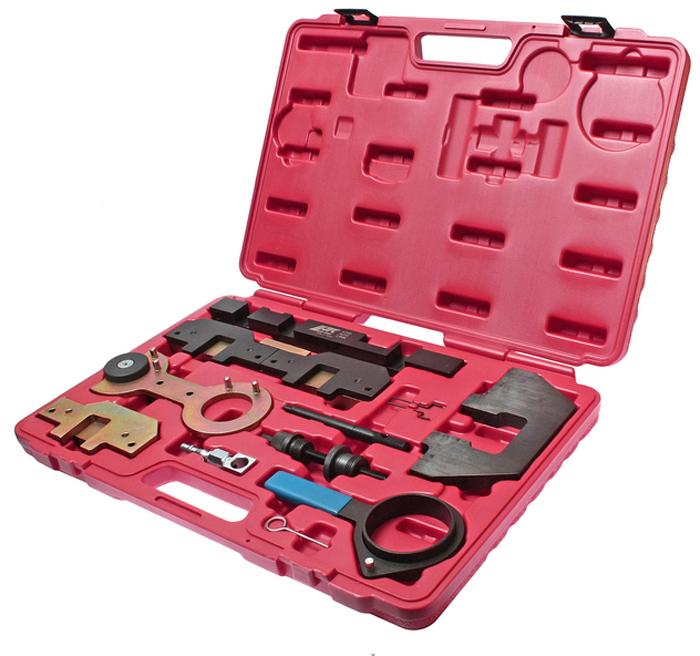 JTC Набор фиксаторов распредвала для проверки и установки фаз ГРМ (BMW двиг. М40, М42, М43, М44, М50, М52, М54, М56). JTC-4759JTC-4759Предназначен для установки и снятия распредвала или его различных элементов. Применяется для проверки и установки фаз ГРМ. Применение: Бензиновые двигатели (М40, М43), двухвальный двигатель (М42, М44, М50, М52TU, М54, М56). Упаковка: прочный переносной кейс. Габаритные размеры: 450/320/60 мм. (Д/Ш/В) Вес: 6600 гр.