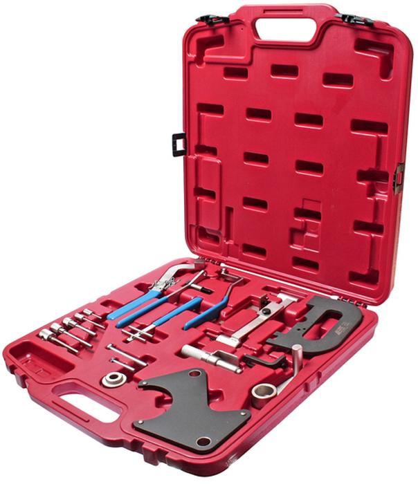 JTC Набор фиксаторов распредвала для установки фаз ГРМ Renault. JTC-4770AJTC-4770AНабор приспособлений Рено (Renault) состоит из всех необходимых частей, которые используются для различных мероприятий: фиксация маховика и коленчатого вала, а также для фиксации вала ТНВД, снятия шкива (съемник) и т.д. Набор специнструмента для Рено (Renault) можно использовать на моторах, как с бензиновым впрыском, так и дизельным (частично Опель (Opel) Arena/Movanoи Вольво (Volvo) V/S 40). Подходит для бензиновых и дизельных двигателей: Бензиновые: 1.2, 1.4, 1.7 и 1.4, 1.6, 1.8, 2.0 16V, а так же 2.2 8V и 2.5 20V. Дизельные: 1.9 D и TD, 2.1, 2.2 D и TD, а так же 2,5 D и TD, 2,8 D. Упаковка: прочный переносной кейс. Количество в оптовой упаковке: 4 шт. Габаритные размеры: 490/450/70 мм. (Д/Ш/В) Вес: 4842 гр.