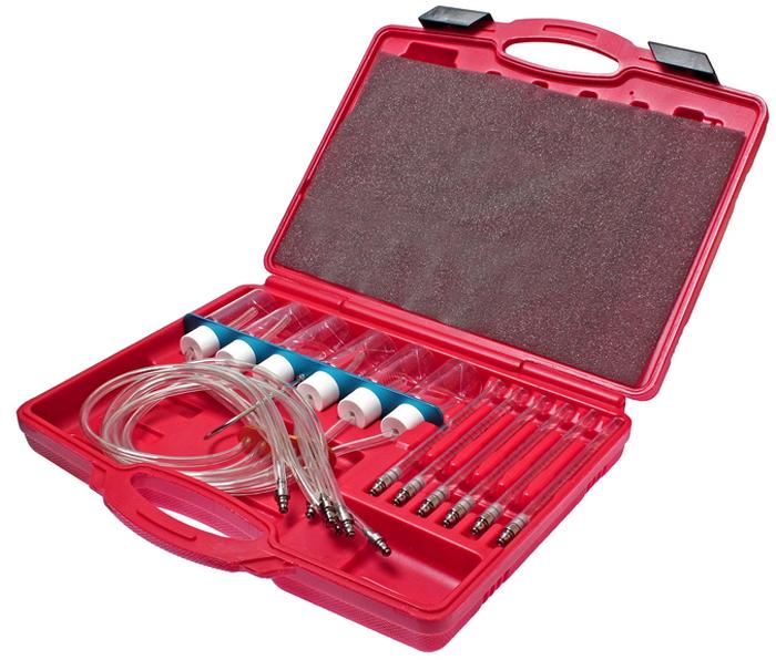 JTC Измеритель расхода топлива для двигателей с системой впрыска COMMON RAIL. JTC-4776JTC-4776Используется для измерения количества топлива, которое каждая форсунка возвращает в топливный бак. Одновременно позволяет подключать до 6 форсунок. Применяется с адаптерами JTC-4777. Упаковка: прочный переносной кейс. Габаритные размеры: 385/290/80 мм. (Д/Ш/В) Вес: 1332 гр.