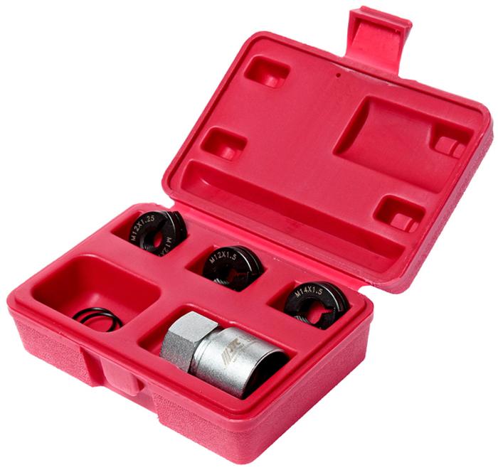 JTC Набор для восстановления резьбы шпилек колес. JTC-5201JTC-5201Уникальный дизайн позволяет без особых усилий восстановить резьбу. Инструмент состоит из двух половинок, которые надеваются на резьбу восстанавливаемой шпильки. Фиксируется стопорным кольцом, после чего специальным цилиндрическим захватом с помощью ручного инструмента восстанавливается резьба. Инструменты обеспечивают восстановление резьбы без повреждения уцелевших участков, что не всегда возможно при работе стандартными средствами для восстановления резьбы. Размер: M12x1.25, M12x1.5, M14x1.5, для небольших автомобилей. Упаковка: прочный пластиковый кейс. Габаритные размеры: 120/80/40 мм. (Д/Ш/В) Вес: 750 гр. ПОДРОБНАЯ...