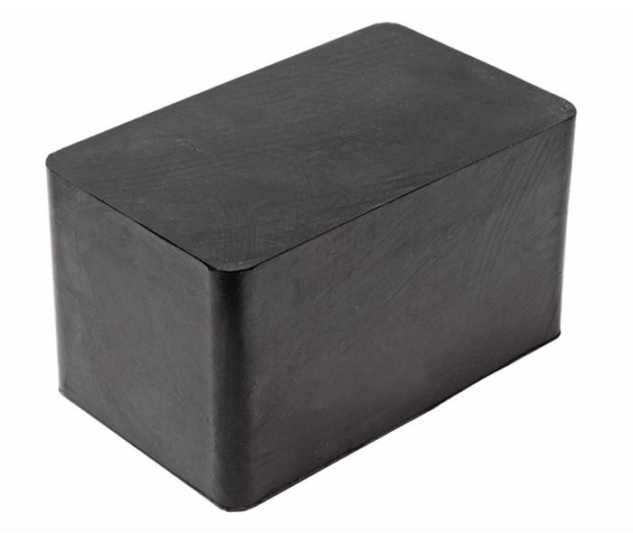 JTC Проставка для подъемника резиновая. JTC-5835JTC-5835Используется для предотвращения повреждений кузова автомобиля при работах на подъемнике. Материал: резина. Размер: 180х110х100 мм. Количество в оптовой упаковке: 8 шт. Габаритные размеры: 180/110/105 мм. (Д/Ш/В) Вес: 2686 гр.
