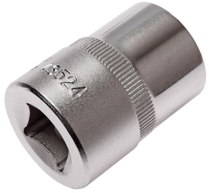 """JTC Головка торцевая TORX 1/2 х E24, длина 38 мм. JTC-43524JTC-43524Изготовлена из закаленной хром-ванадиевой стали. Размер: 1/2""""хE24. Общая длина: 38 мм. Количество в оптовой упаковке: 10 шт. и 200 шт. Габаритные размеры: 38/28/28 мм. (Д/Ш/В) Вес: 111 гр."""