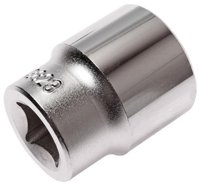 """JTC Головка торцевая 6-гранная 1/2 х 23 мм, длина 38 мм. JTC-43823JTC-438236 граней, метрический размер. Изготовлена из закаленной хром-ванадиевой стали. Размер: 1/2""""х23 мм. Длина: 38 мм. Количество в оптовой упаковке: 10 шт. и 100 шт. Габаритные размеры: 38/31/31 мм. (Д/Ш/В) Вес: 98 гр."""