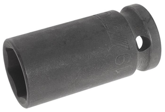 """JTC Головка торцевая ударная средней глубины, 6-гранная. JTC-445519JTC-4455196 граней, метрический размер. Диаметр: 27 мм. Общая длина: 55 мм. Размер: 1/2"""" Dr.х19 мм. Изготовлена из высококачественной хром-молибденовой стали. Количество в оптовой упаковке: 10 шт. и 200 шт Габаритные размеры: 55/30/30 мм. (Д/Ш/В) Вес: 135 гр."""