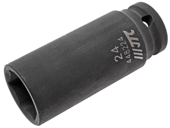 JTC Головка торцевая ударная глубокая 6-гранная 1/2 х 24 мм, длина 82 мм. JTC-448224JTC-4482246 граней, метрический размер. Изготовлена из высококачественной хром-молибденовой стали. Размер: 1/2х24 мм. Общая длина: 82 мм. Количество в оптовой упаковке: 10 шт. и 50 шт. Габаритные размеры: 82/34/34 мм. (Д/Ш/В) Вес: 334 гр.
