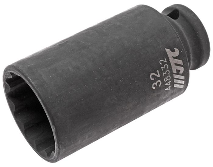 JTC Головка торцевая ударная тонкостенная 12-гранная 1/2 х 32 мм, длина 82 мм. JTC-448332JTC-448332Головка торцевая 12-гранная ударная тонкостенная JTC Описание 12 граней, метрический размер. Изготовлена из высококачественной хром-молибденовой стали. Размер: 1/2х32 мм. Общая длина: 82 мм. Габаритные размеры: 82/43/43 мм. (Д/Ш/В) Вес: 356 г.