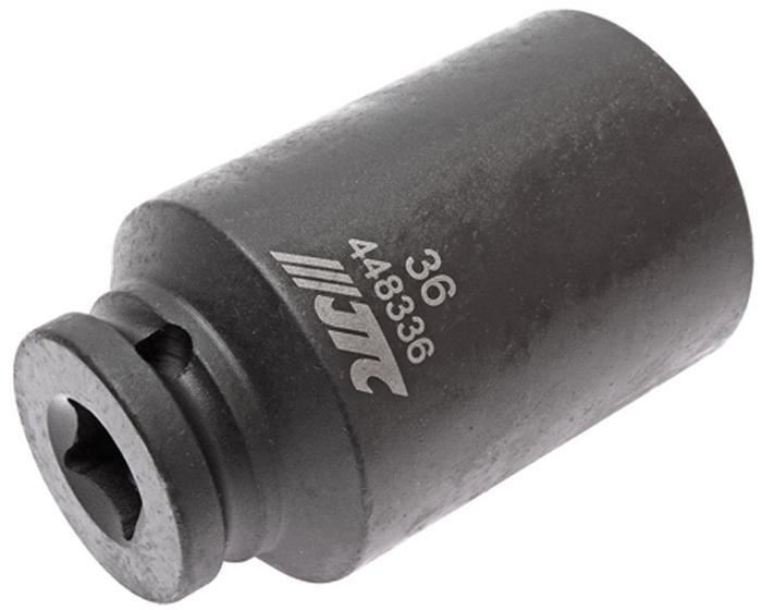 JTC Головка торцевая ударная тонкостенная 12-гранная 1/2 х 36 мм, длина 82 мм. JTC-448336JTC-448336Головка торцевая 12-гранная ударная тонкостенная JTC Описание 12 граней, метрический размер. Изготовлена из высококачественной хром-молибденовой стали. Размер: 1/2х36 мм. Общая длина: 82 мм. Габаритные размеры: 82/49/49 мм. (Д/Ш/В) Вес: 558 г.