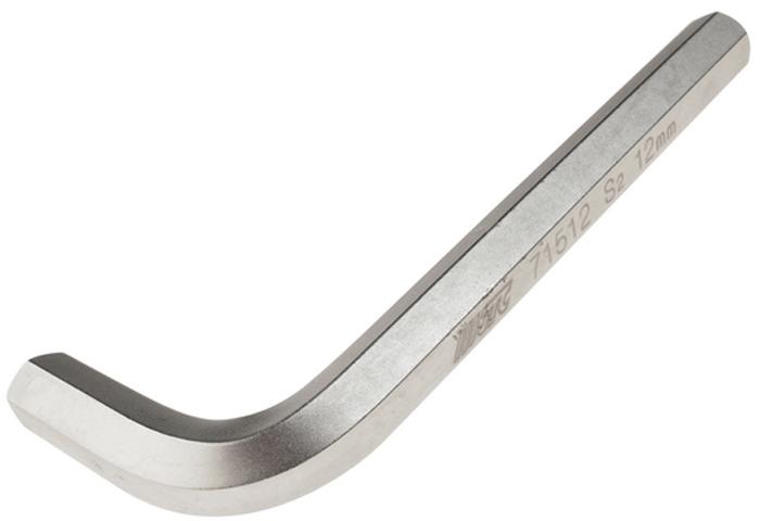 JTC Ключ шестигранный Г-образный H12. JTC-71512JTC-71512Материал: S2 сталь. Размер: H12. Размер удлиненной части: 125 мм. Размер короткой части: 45 мм.