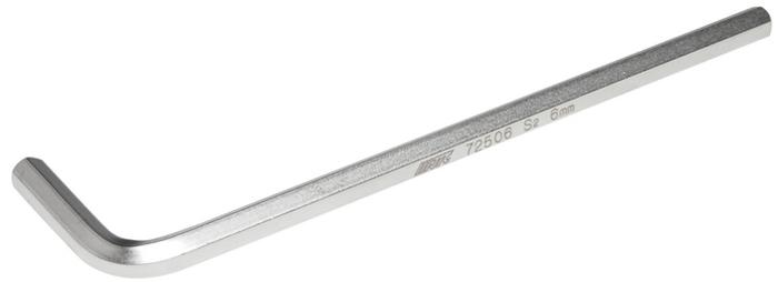 JTC Ключ шестигранный Г-образный удлиненный H6. JTC-72506JTC-72506Материал: S2 сталь. Размер: H6. Размер удлиненной части: 135 мм. Размер короткой части: 32 мм.