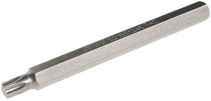 JTC Вставка 10 мм TORX экстрадлинная Т45х120 мм. JTC-1331245JTC-1331245Размер: Т45 х 120 мм., экстрадлинная TORX. Общая длина: 120 мм. Длина насадки: 10 мм. Материал: S2 сталь.