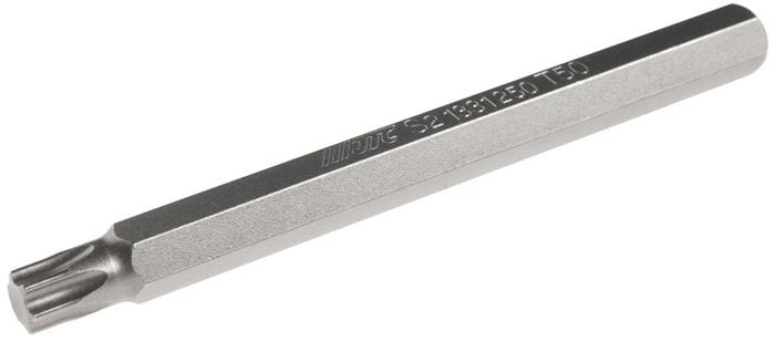 JTC Вставка 10 мм TORX экстрадлинная Т50х120 мм. JTC-1331250JTC-1331250Размер: Т50 х 120 мм., экстрадлинная TORX. Общая длина: 120 мм. Длина насадки: 10 мм. Материал: S2 сталь.