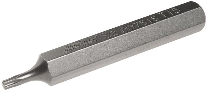 JTC Вставка 10 мм TORX удлиненная Т15х75 мм. JTC-1337515JTC-1337515Размер: Т15 х 75 мм., удлиненная TORX. Длина насадки: 10 мм. Материал: S2 сталь.
