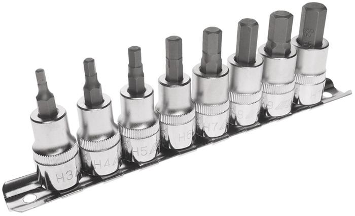 JTC Набор головок торцевых с насадкой HEX 3/8 H3-H10, 8 предметов. JTC-H308HJTC-H308HВ комплекте: Н3, Н4, Н5, Н6, Н7, Н8, Н9, Н10.